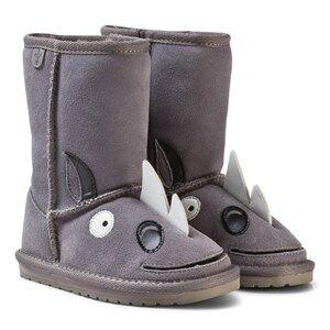 Emu Australia Boys Boots Grey Little Creatures Rhino Boots