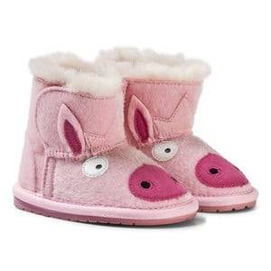 Emu Australia Girls Boots Pink Little Creatures Piggy Walkers