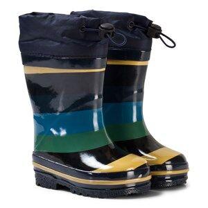 Molo Unisex Boots Blue Sejer Rubber Boots Ocean Stripe