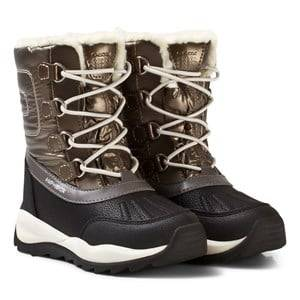 Geox Girls Boots Gold Gold Jr Orizont Fleece Lined Snow Boots