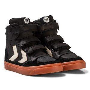 Hummel Unisex Sneakers Black Stadil Rubber Jr Trainers Black