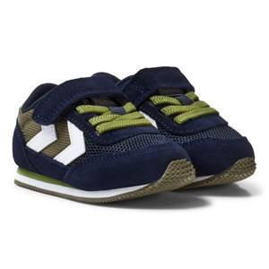 Hummel Unisex Sneakers Green Reflex Infant Trainers Olive Night