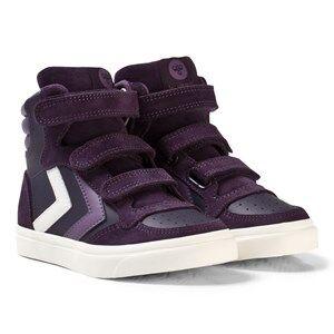 Hummel Unisex Sneakers Black Stadil Leather Jr Nightshade