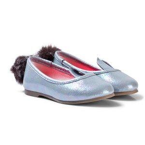 Billieblush Girls Shoes Silver Silver Metallic Bunny Pumps