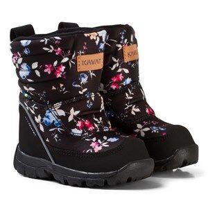 Kavat Girls Boots Black Voxna WP Winter Boots Floral