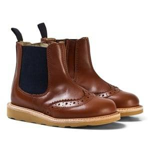 Young Soles Unisex Boots Brown Chestnut Leather Francis Boots