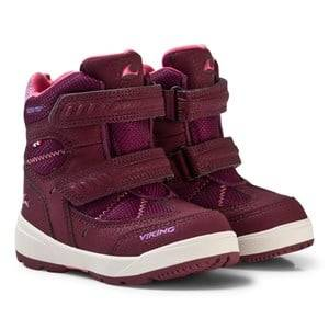 Viking Unisex Shoes Purple Toasty II Gtx Boots Plum/Coral