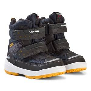 Viking Boys Boots Navy PLAY II GTX Reflective/Silver