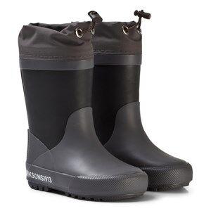 Didriksons Unisex Boots Black Slush Kids Wellies Black