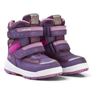 Viking Girls Boots Purple PLAY II GTX Reflective/Lilac