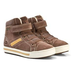 Viking Unisex Shoes Brown EAGLE III GTX Sneaker Taupe/Mustard