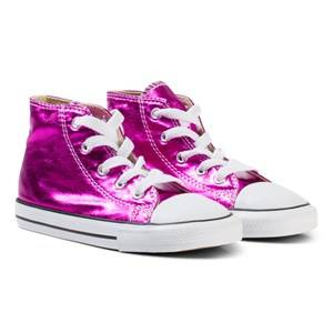Converse Girls Sneakers Pink Chuck Taylor HI Sneakers Magenta Glow