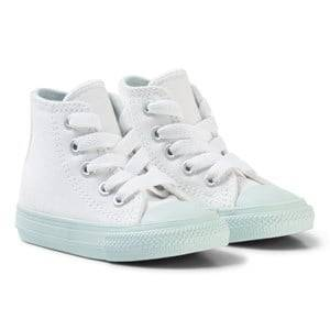 Converse Unisex Sneakers White White Chuck II All Star Hi Top Sneaker with Mint Sole