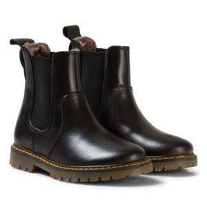 Bisgaard Unisex Boots Black Lambskin Boots Black