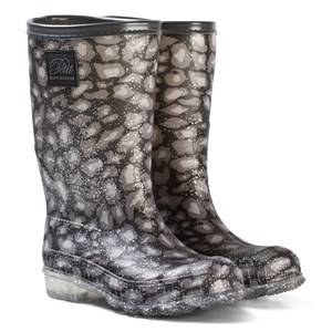 Petit by Sofie Schnoor Girls Boots Black Lined Rubber Boot Leo Glitter