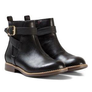 Tommy Hilfiger Girls Boots Black Black Aubrey Leather Ankle Boots