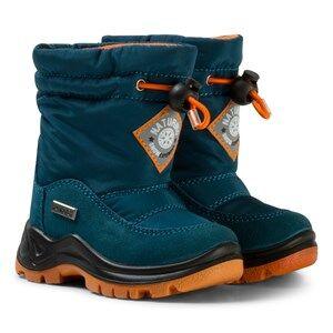 Naturino Unisex Boots Navy Varna Waterproof Boots Blue/Orange