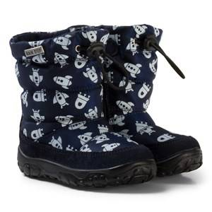 Naturino Boys Boots Navy Poznurr Waterproof Rocket Boots Blue