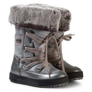 Naturino Girls Boots Silver Avila Waterproof Boots Silver