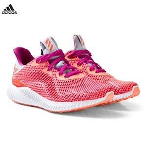 adidas Performance Girls Sneakers Pink Coral Alphabounce Junior Trainers