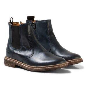Pom Dapi Girls Boots Blue Brother Jodzip Boots Navy