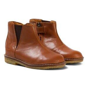 Pom Dapi Girls Boots Brown Suzet Boots Camel
