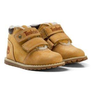 Timberland Unisex Boots Cream Pokey Pine Warm Line Shoe Wheat