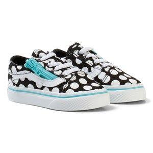 Vans Unisex Sneakers Black Polka Dot Old Skool Zip Shoes Black