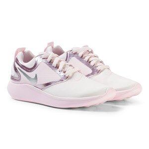 NIKE Girls Sneakers Pink LunarSolo Junior Running Shoe Pearl Pink/Metallic Silver
