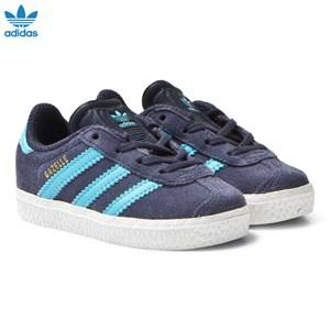 adidas Originals Boys Sneakers Navy Midnight Grey Infants Gazelle Trainers