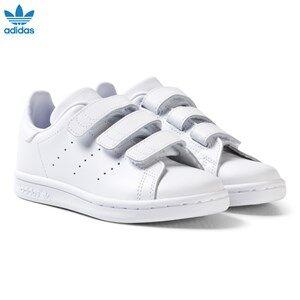 adidas Originals Unisex Sneakers White Stan Smith Velcro Trainers White