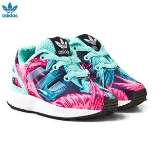 adidas Originals Girls Sneakers Blue Aqua ZX Flux Infant Trainers