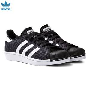 adidas Originals Boys Sneakers Black Black and White Superstar Junior Trainers