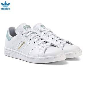 adidas Originals Girls Sneakers White Junior Stan Smith Trainers White and Mint Green