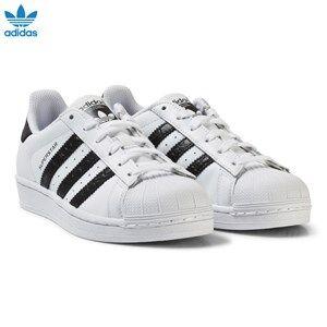 adidas Originals Unisex Sneakers White White and Black Junior Superstar Trainers