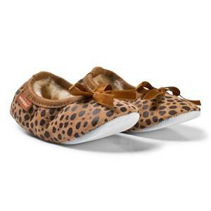 Shepherd Unisex Childrens Shoes Slippers Brown Varberg Slippers Leopard