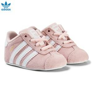 adidas Originals Girls Shoes Pink Pink Gazelle Crib Trainers