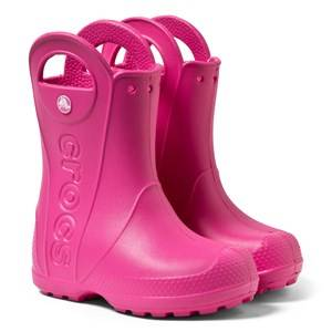 Crocs Handle It Rain Boot Kids Candy Pink Wellingtons
