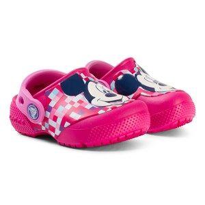 Crocs Fun Lab Mickey Clogs in Candy Pink Lasten kengt 19-20 EU