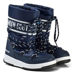 Image of Moon Boot Moon Boot WE Sport Mid JR Navy/Blue/White Snow boots