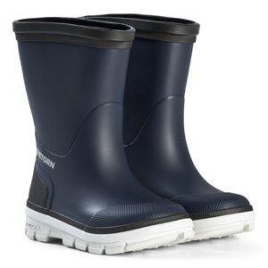 Tretorn Aktiv Rubber Boots Navy/Grey Wellingtons