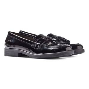 Geox JR Agata Black Patent Tassle Loafers Lasten kengt 35 (UK 2.5)