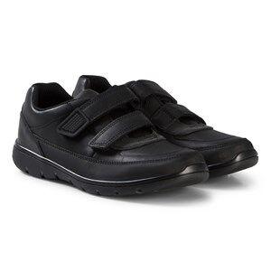 Clarks Venture Walk Shoes Black Leather Lasten kengt 33.5 (UK 1.5)
