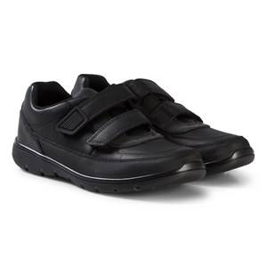 Clarks Venture Walk Shoes Black Leather Lasten kengt 33 (UK 1)