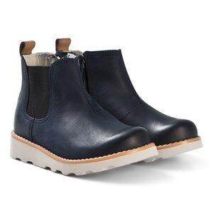 Clarks Crown Halo Boots Navy Leather Lasten kengt 22 (UK 5.5)