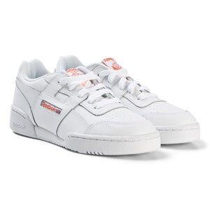 Reebok White Workout Plus Sneakers Lasten kengt 35 (UK 3.5)
