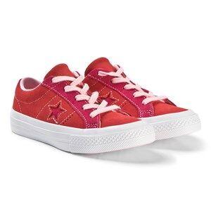 Converse Red and Pink One Star OX Junior Sneakers Lasten kengt 27 (UK 10)