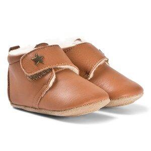 Bisgaard Home Shoes Wool Star Cognac Lasten kengt 18 EU