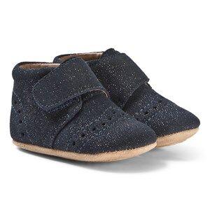 Bisgaard Home Shoes Petit Glitter-Blue Lasten kengt 23 EU