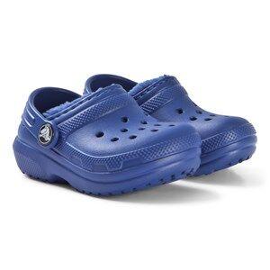 Crocs Classic Lined Clog K Blue Jean Lasten kengt C8 (EU 24/25)